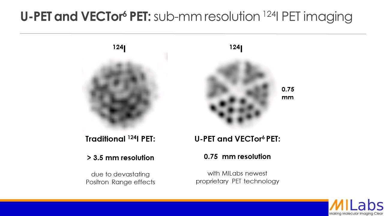 Sub-mm resolution I-124 PET imaging