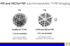 Sub-mm resolution I-124 PET imaging