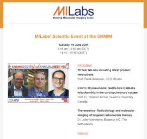 SNMMI 2021 MILabs invitation newsletter thumbnail