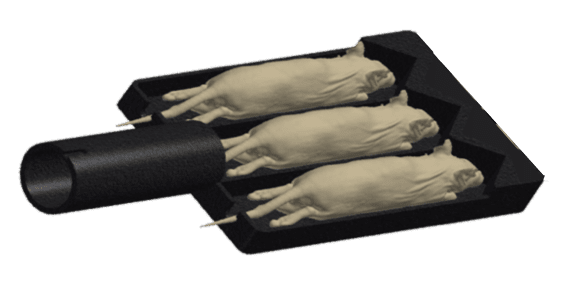3 mouse animal bed for optical imaging - accessories for preclinical imaging scanners