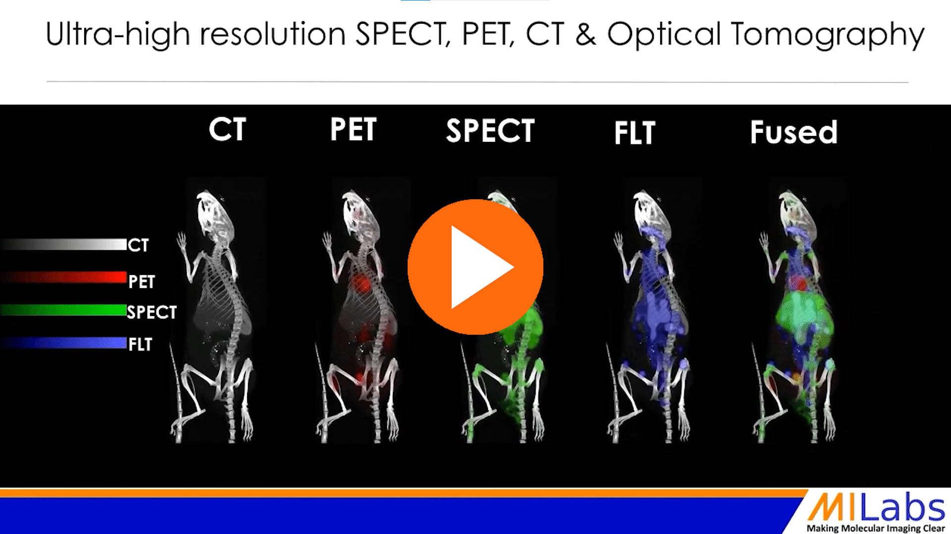 high resolution microSPECT-PreclinicalPET-microCT-fluorescence imaging