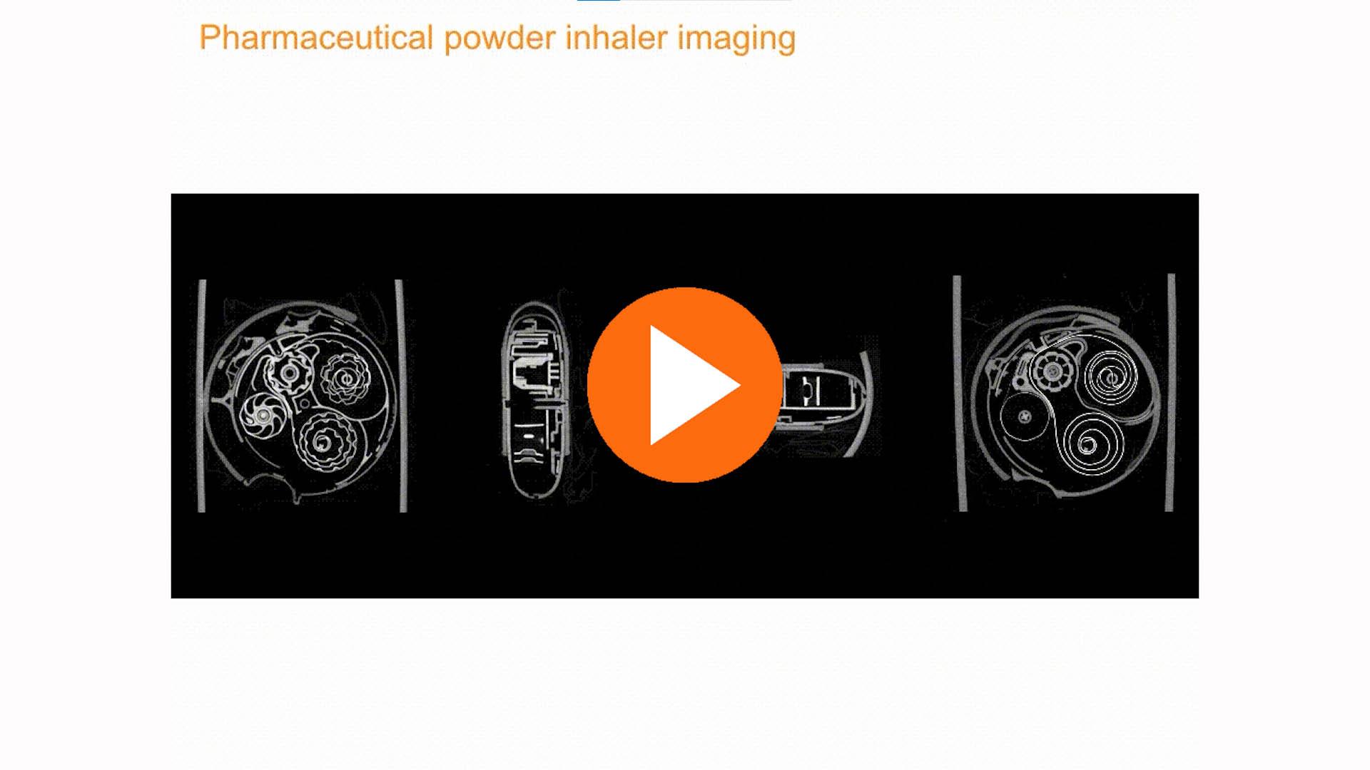 pharmaceutical powder inhaler imaging