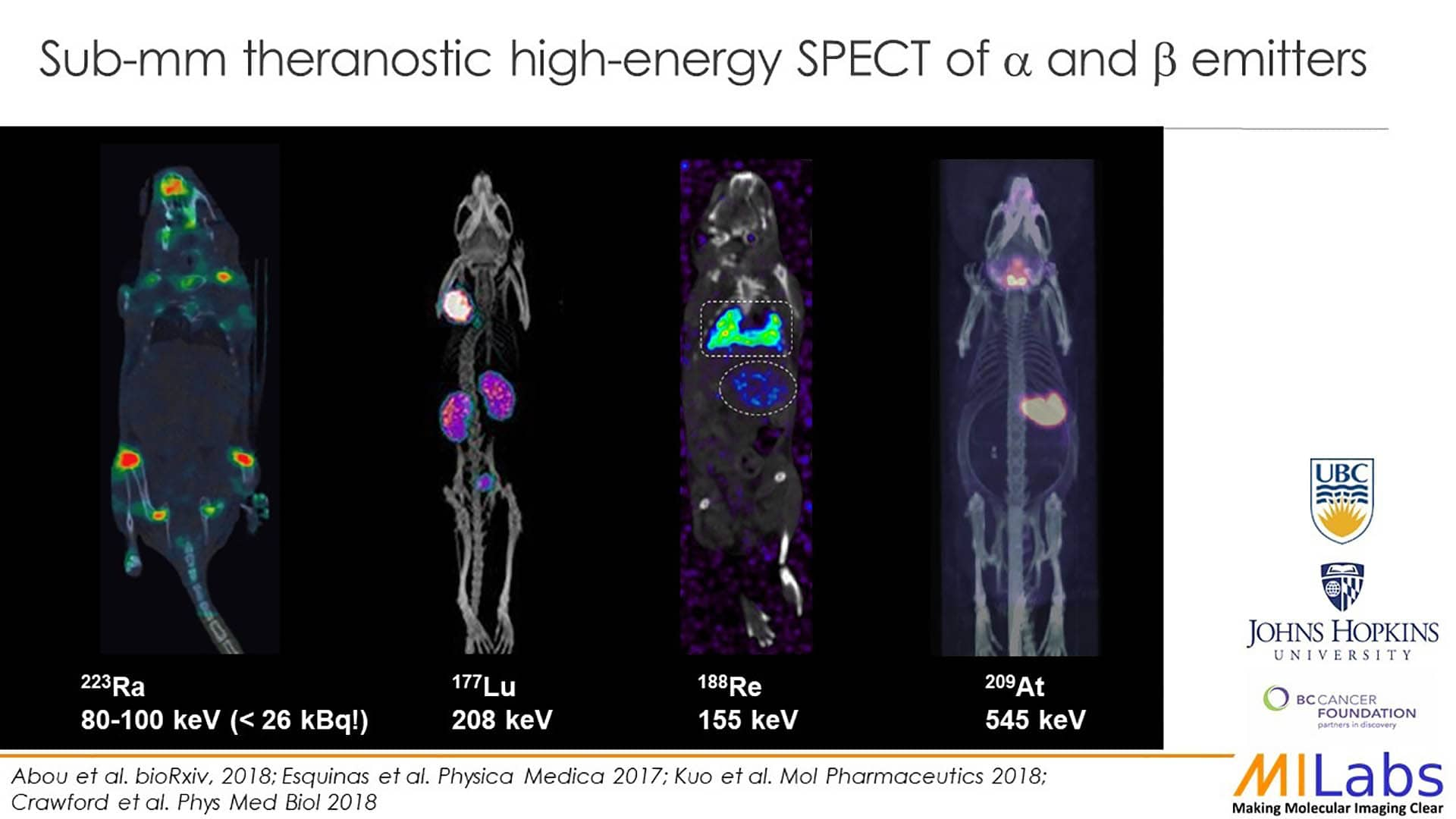 spect imaging theranostics alpha beta emitters